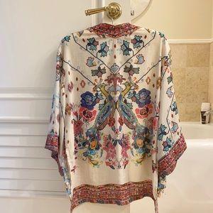Gorgeous Zara Kimono — Oriental Design w/peacocks